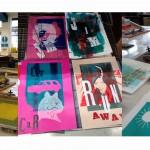 Screen printing workshops at Northbrook