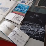 assorted sketchbooks
