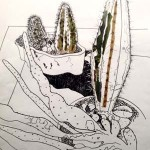 A1 cacti drawing