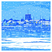 Snowy Town View Shoreham